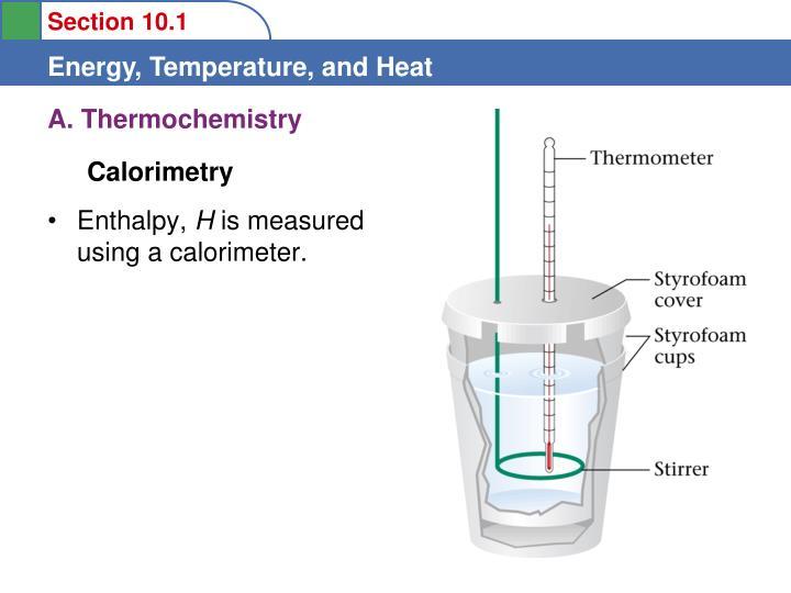 A. Thermochemistry