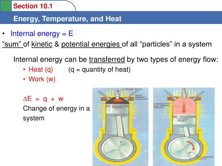 Internal energy = E