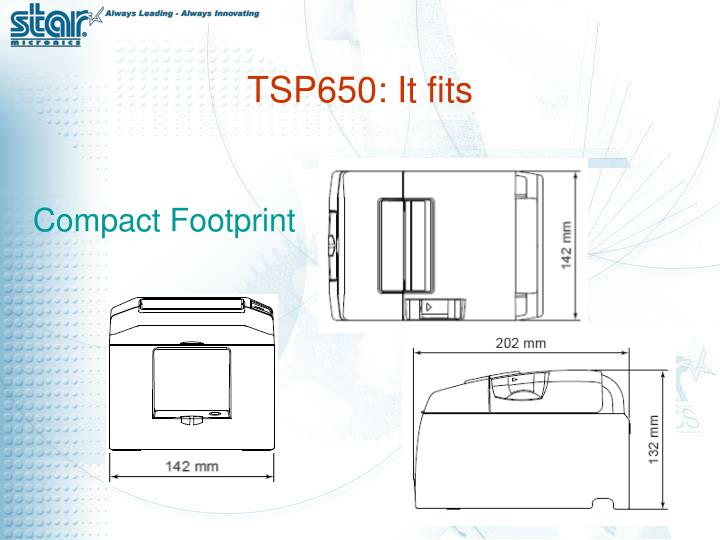 TSP650: It fits