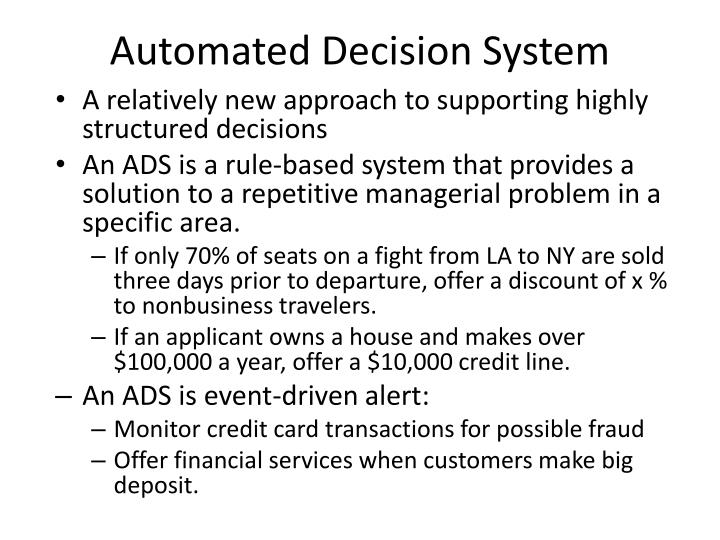 Automated Decision System