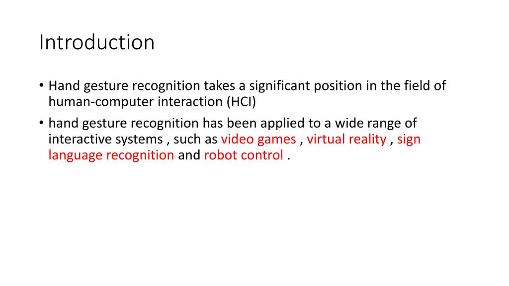 PPT - Real-Time Hand Gesture Recognition with Kinect for