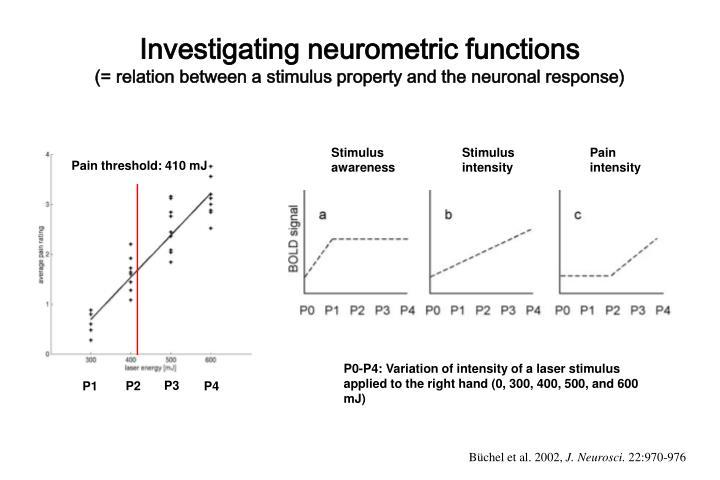 Investigating neurometric functions