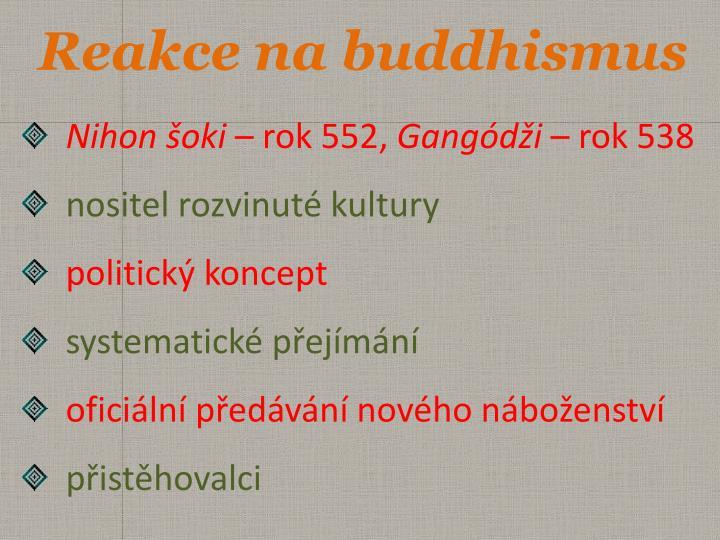 Reakce na buddhismus