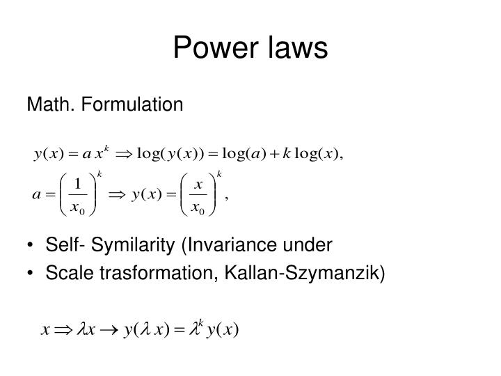 Power laws