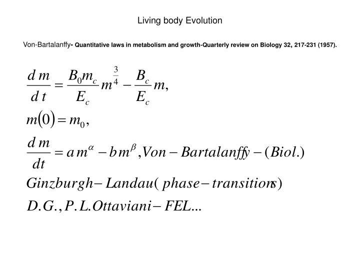 Living body Evolution