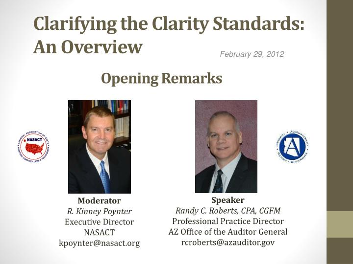 Clarifying the clarity standards an overview