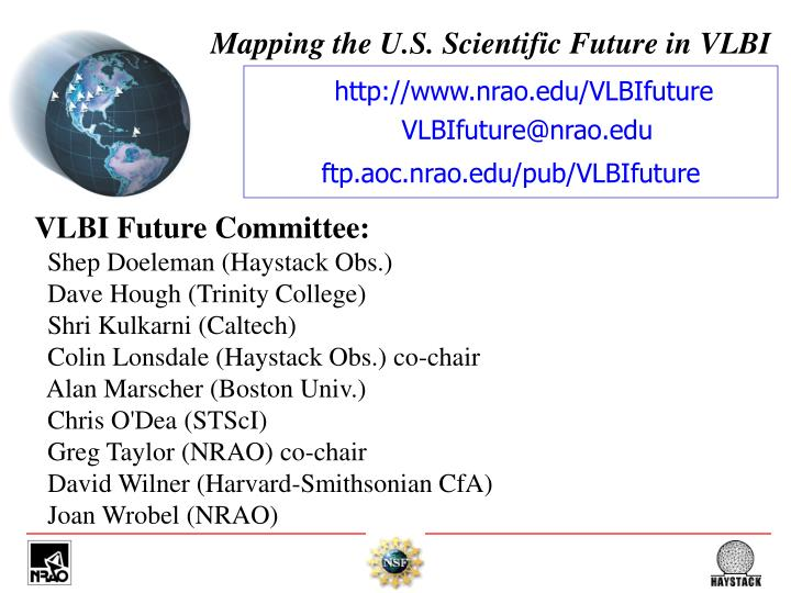 mapping the u s scientific future in vlbi n.