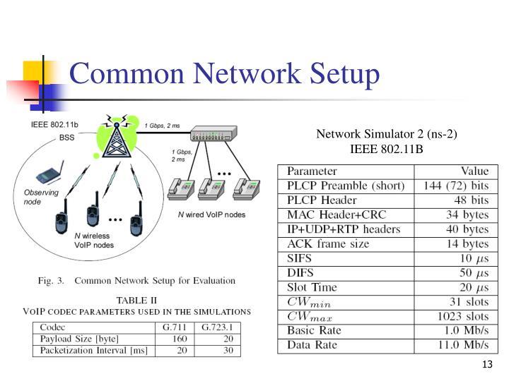 Common Network Setup