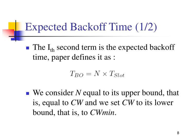 Expected Backoff Time (1/2)