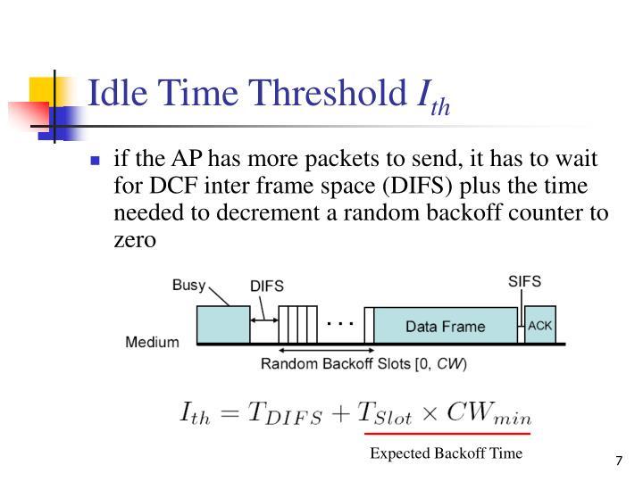 Idle Time Threshold