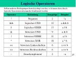logische operatoren