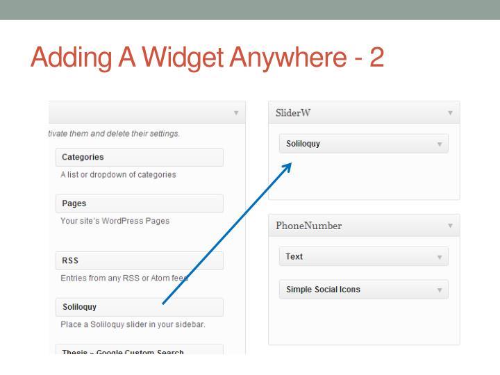 Adding A Widget Anywhere - 2