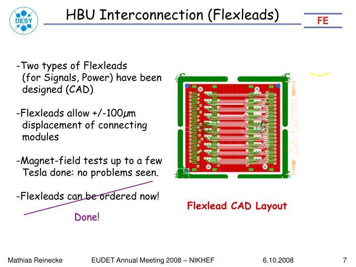 HBU Interconnection (Flexleads)
