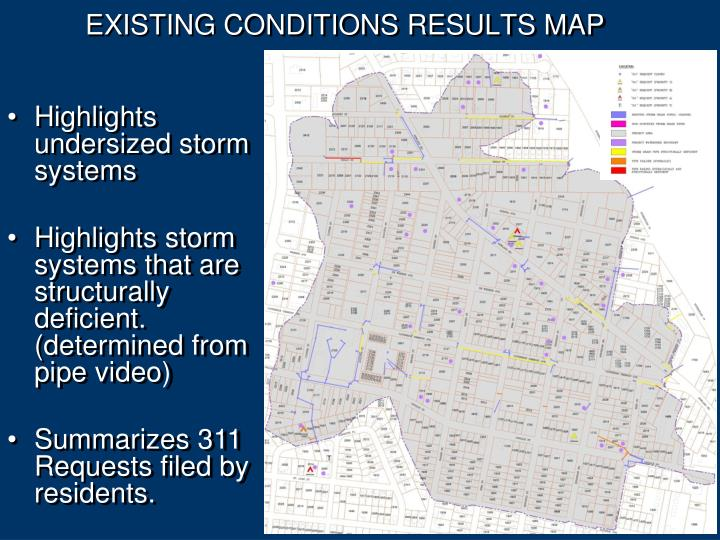 EXISTING CONDITIONS RESULTS MAP