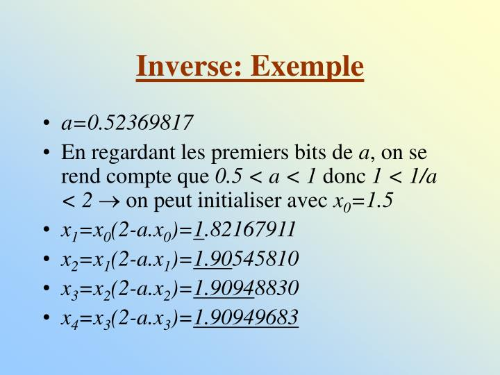 Inverse: Exemple