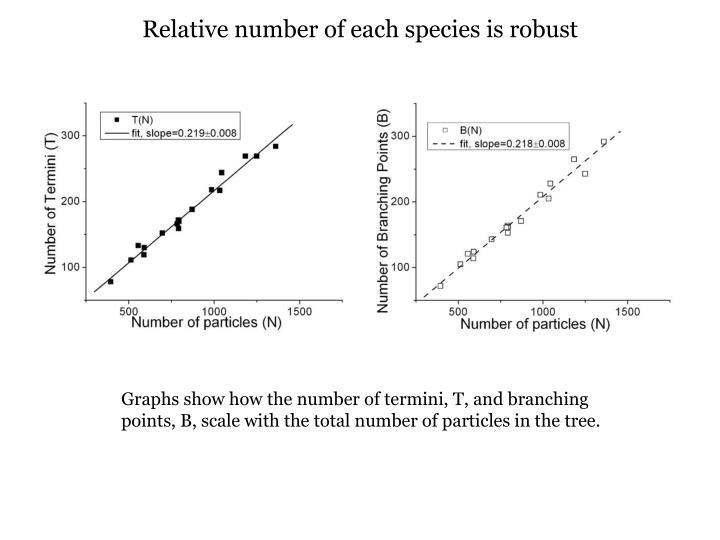 Relative number of each species is robust