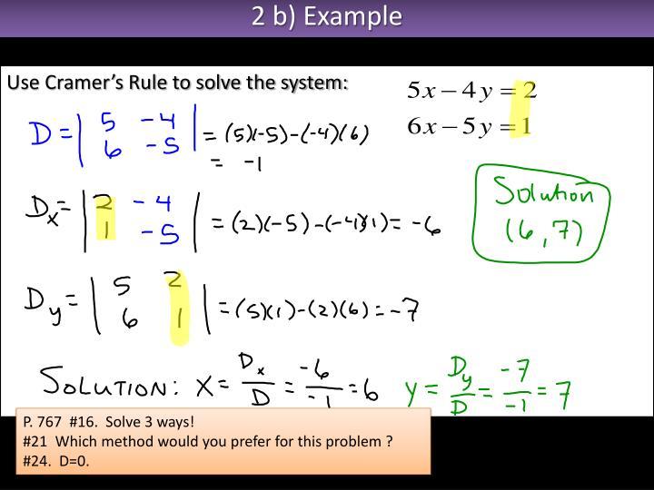 2 b) Example