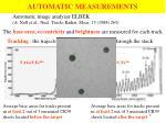 automatic measurements