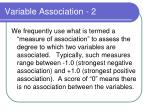 variable association 2