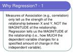 why regression 1