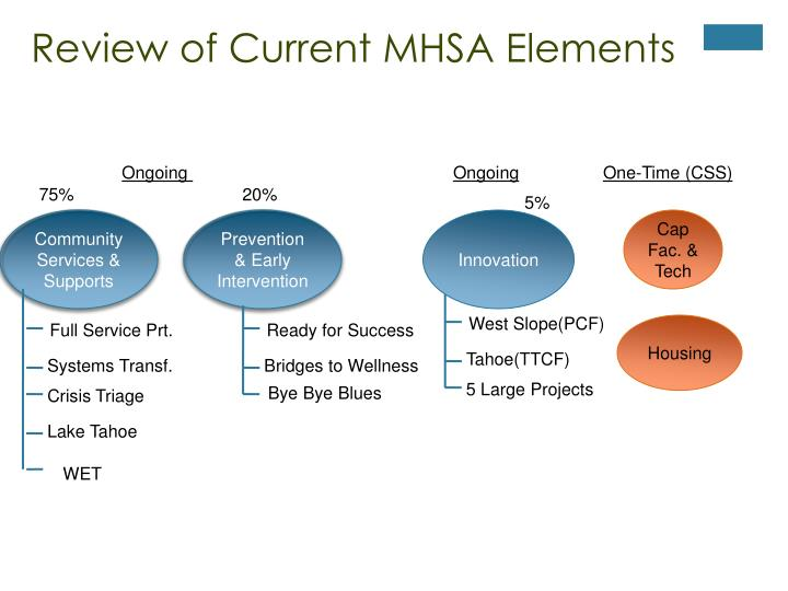 Review of Current MHSA Elements