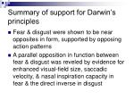 summary of support for darwin s principles