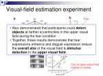 visual field estimation experiment
