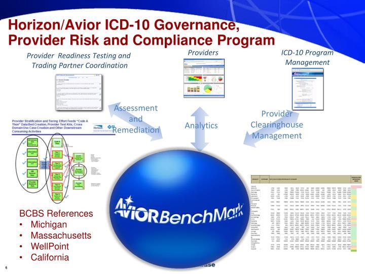 Horizon/Avior ICD-10 Governance,