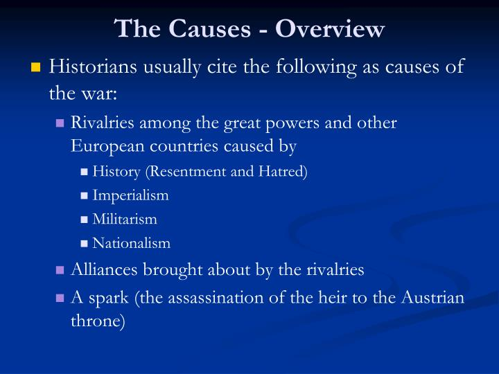 The causes overview