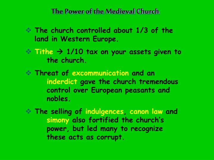 The Power of the Medieval Church