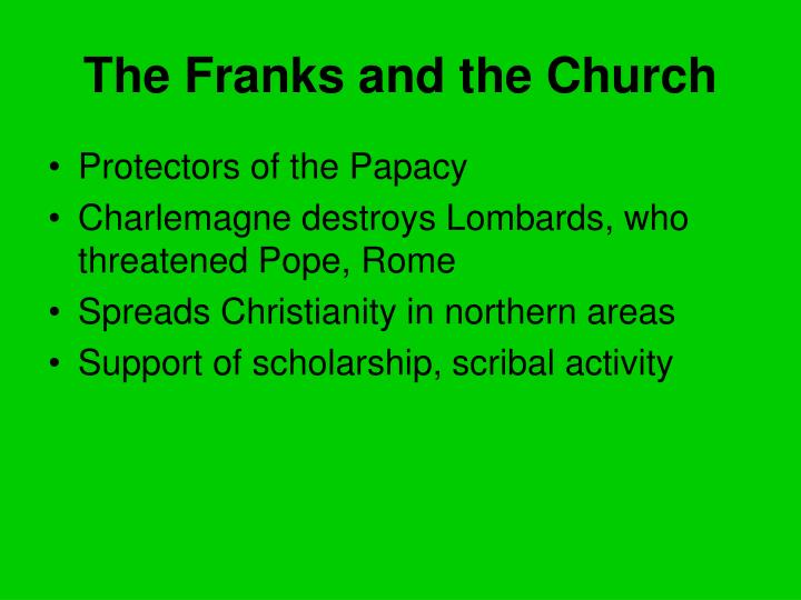 The Franks and the Church