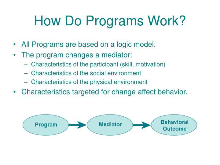 How Do Programs Work?
