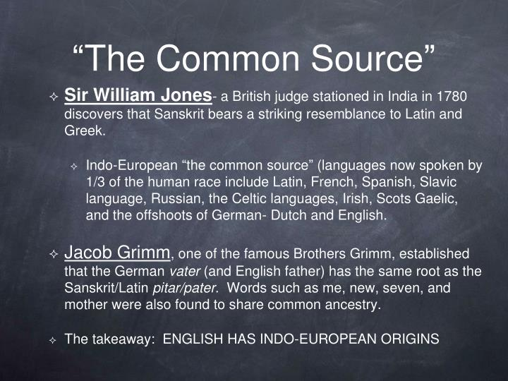 The common source