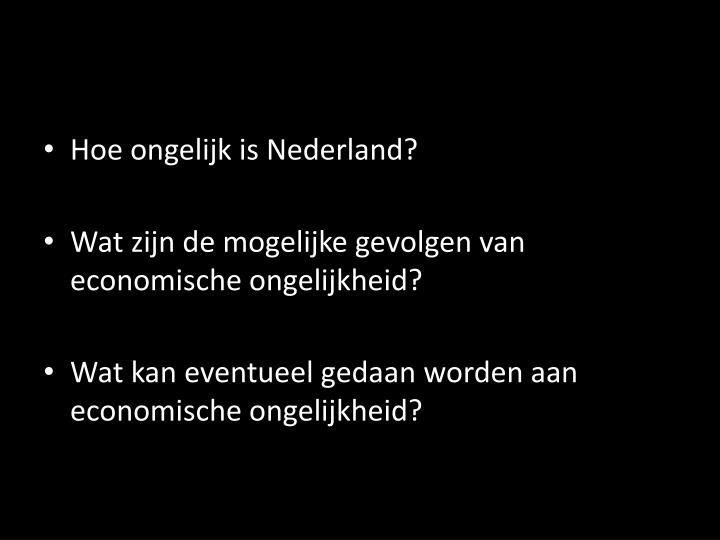 Hoe ongelijk is Nederland?