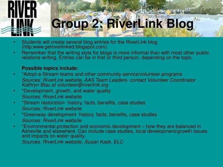 Group 2 riverlink blog
