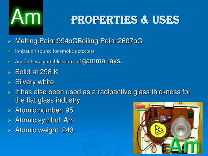 Properties uses