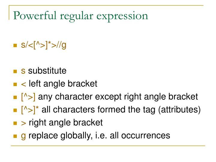 Powerful regular expression