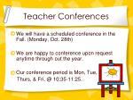 teacher conferences