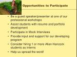 opportunities to participate