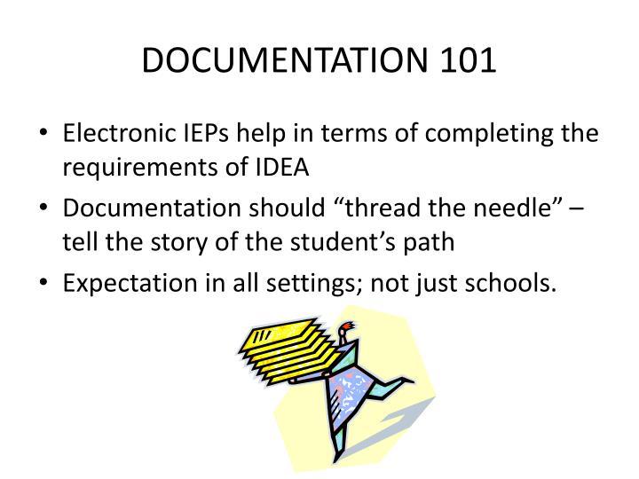 DOCUMENTATION 101