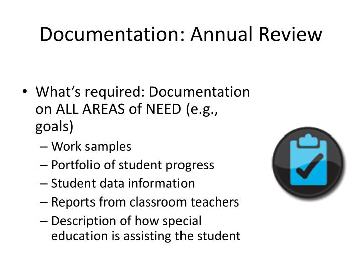 Documentation: Annual Review