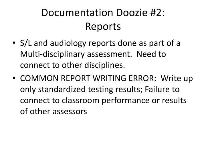 Documentation Doozie #2: