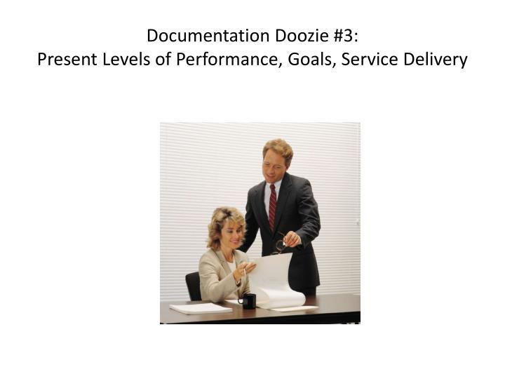 Documentation Doozie #3:
