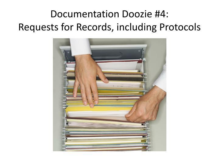 Documentation Doozie #4: