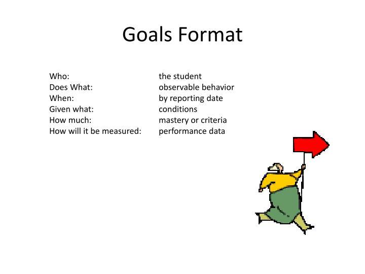 Goals Format