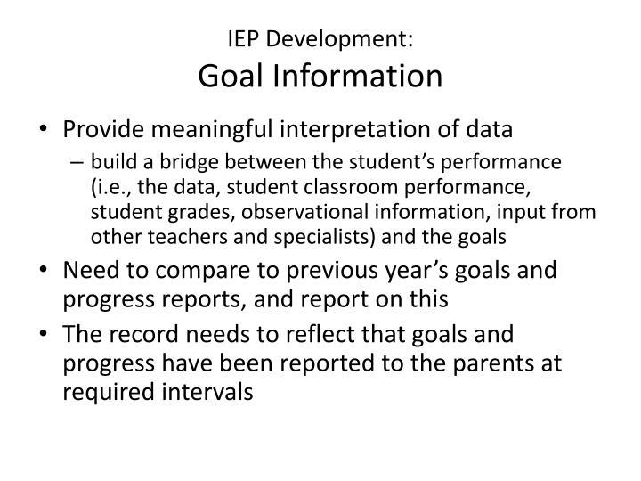 IEP Development: