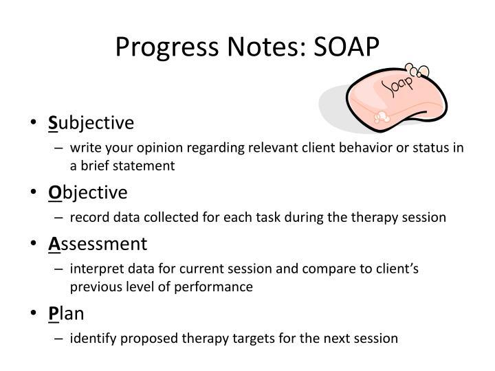 Progress Notes: SOAP
