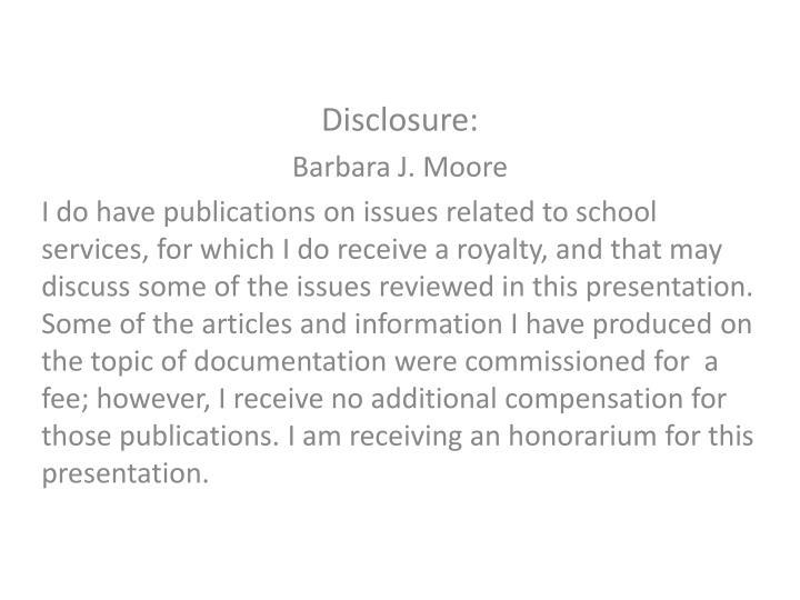 Disclosure: