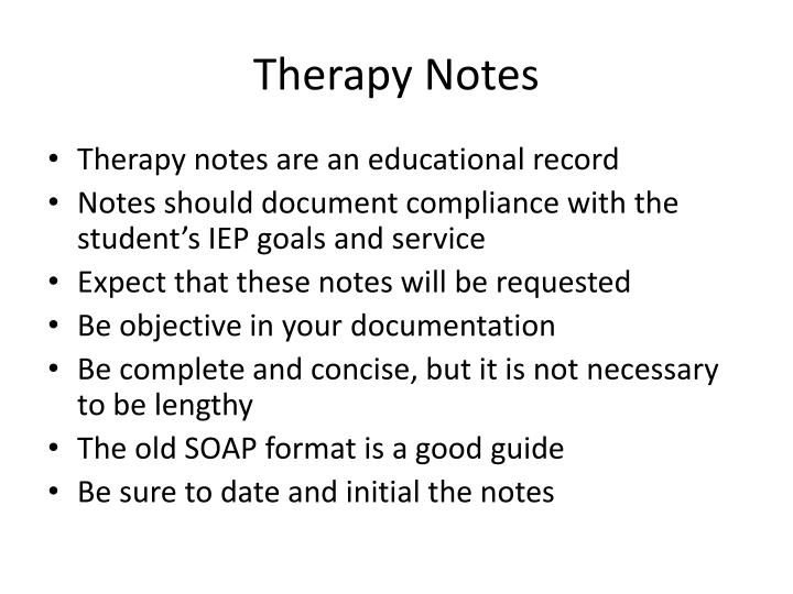 Therapy Notes