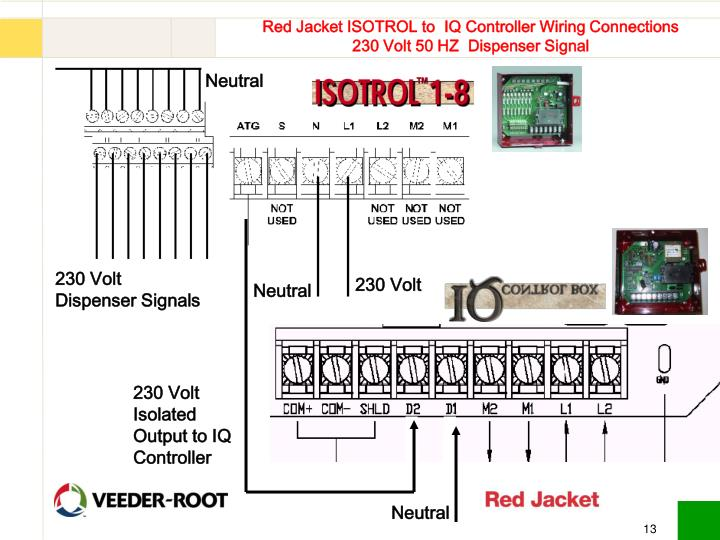 red jacket isotrol to iq controller wiring connections 230 volt 50 hz dispenser signal n red jacket wiring diagram wiring diagram explained